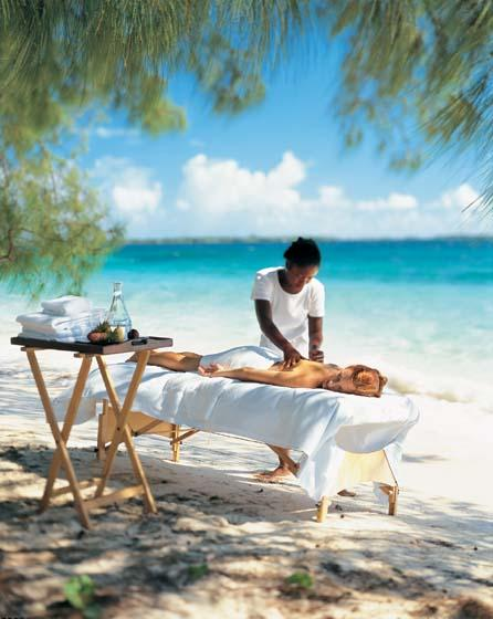 Private beach massage